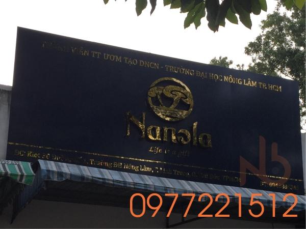 Bảng hiệu quảng cáo alu chữ nổi inox tại TPHCM