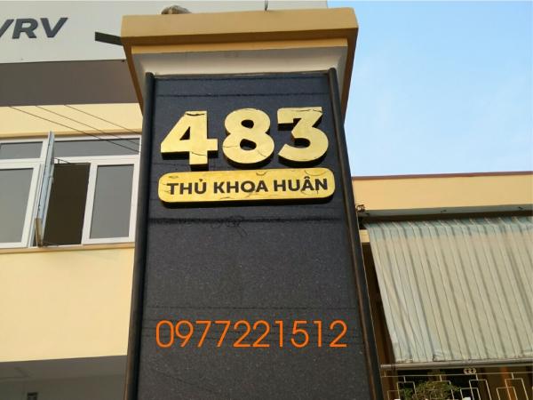 Gia công bảng số nhà inox đẹp tại TPHCM