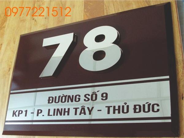 Xưởng gia công biển số nhà tại TPHCM
