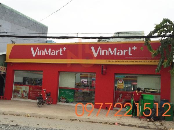 Làm Bảng Hiệu Quảng Cáo Decal Siêu Thị Mini VinMart tại Dĩ An - Bình Dương
