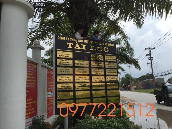Thi công bảng hiệu công ty Tài Lộc tại Quận 9 - TPHCM