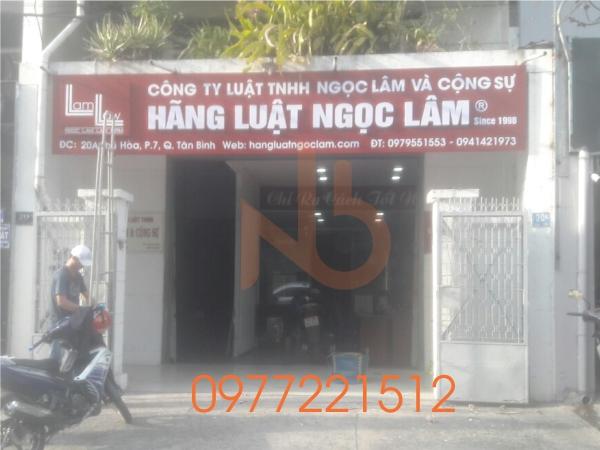 Làm bảng hiệu Hãng Luật Tại Tân Bình - TPHCM
