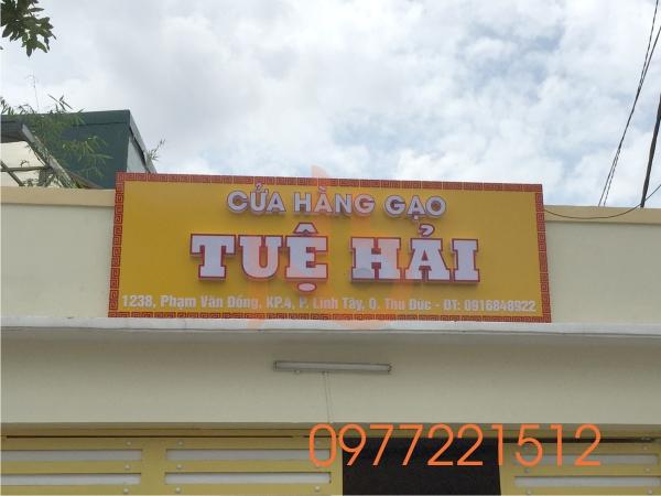 Làm bảng hiệu cửa hàng gạo tại TPHCM